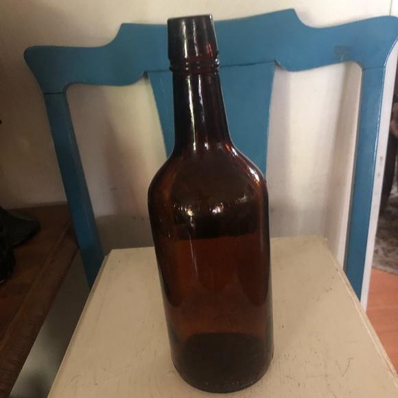 Vintage Brown Glass Beer Bottle